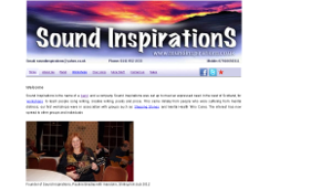 Image of soundinspirations website - -previous work undertaken by Steven Griffiths